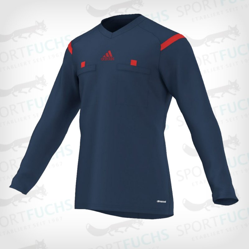 adidas Schiedsrichtertrikot Referee 14 langarm collegiate navy / hi-res red f13 S
