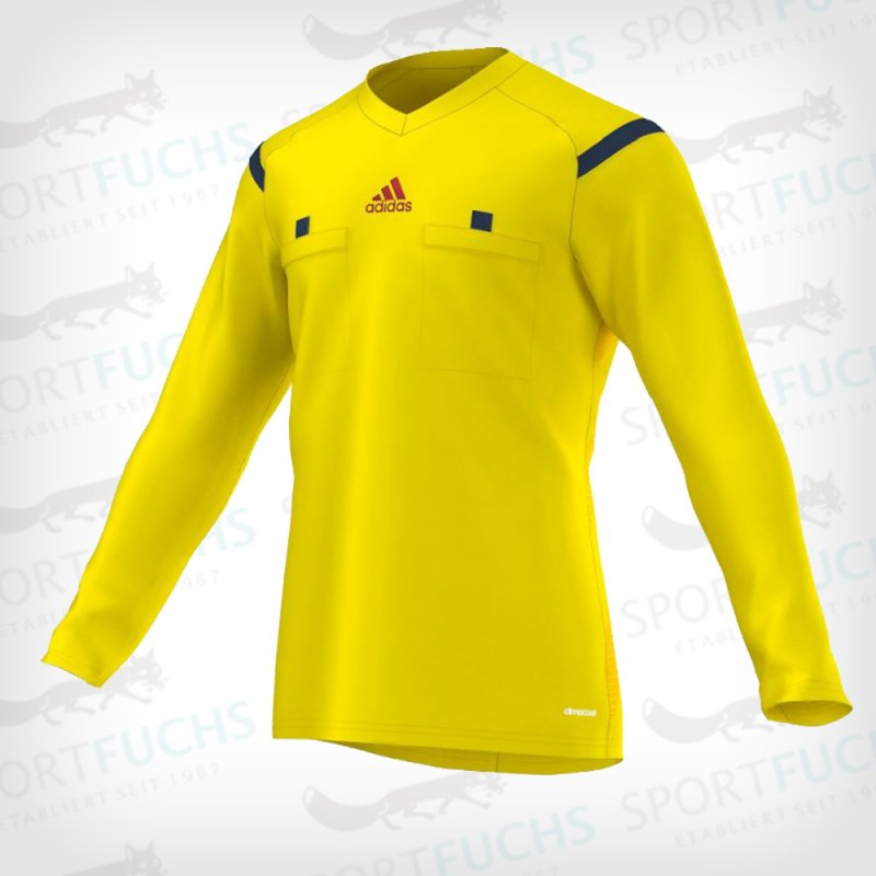 adidas Schiedsrichtertrikot Referee 14 langarm vivid yellow s13 / collegiate navy / hi-res red f13 XL