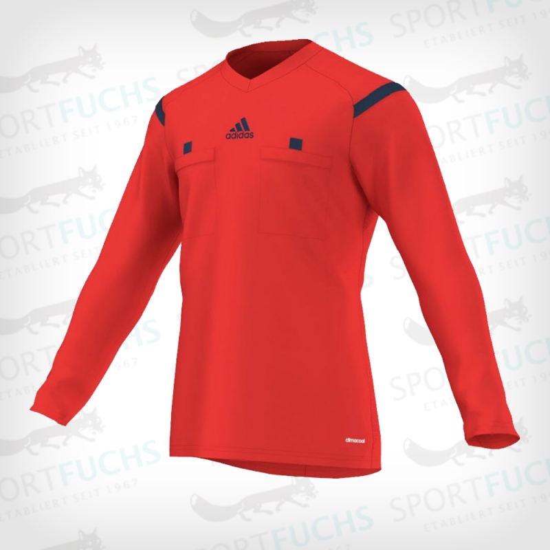 adidas Schiedsrichtertrikot Referee 14 langarm hi-res red f13 / collegiate navy S